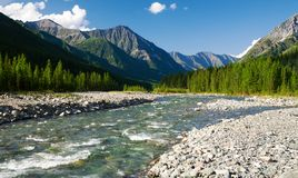 Sumak river - sayan mountains - russia Royalty Free Stock Photo