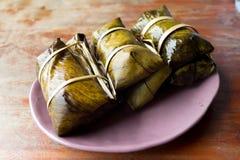 Suman, dessert tailandese Immagini Stock