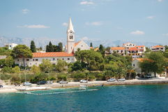 picturesque village sumartin on brac island, croat Royalty Free Stock Images