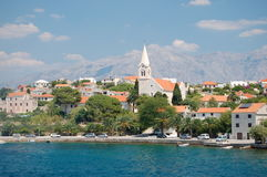 Picturesque village sumartin on brac island, croat Stock Images