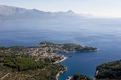 Sumartin village on Brac island in Croatia Stock Images