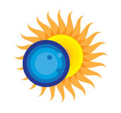 Sumaryczna Słonecznego zaćmienia ikona Sierpień 21, 2017 Obraz Stock