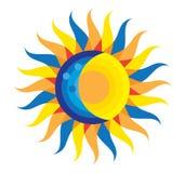 Sumaryczna Słonecznego zaćmienia ikona Sierpień 21, 2017 Obrazy Royalty Free