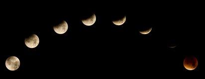 Sumaryczny Księżycowy zaćmienie 2015 Zdjęcie Royalty Free