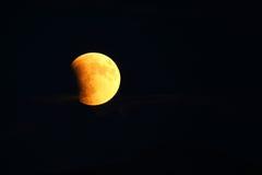 Sumaryczny Księżycowy zaćmienie Supermoon na Wrześniu 27, 2015 w Colo Zdjęcia Royalty Free