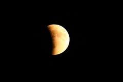 Sumaryczny Księżycowy zaćmienie Supermoon na Wrześniu 27, 2015 w Colo Zdjęcie Stock