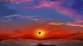 Sumaryczny Słoneczny zaćmienie Obraz Royalty Free