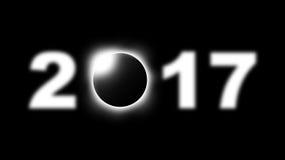 Sumaryczny słoneczny zaćmienie podróżuje przez Zlanych stany America na Sierpień 21st, 2017 Royalty Ilustracja