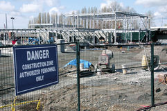 Sumas Border Crossing Construction. The Sumas Border crossing in southwest BC and new construction work on April 4, 2015 stock images