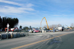 Sumas Border Crossing Upgrade. Construction has begun on an upgrade to the Sumas Border Crossing near Abbotsford, British Columbia on March 13, 2015 royalty free stock photos