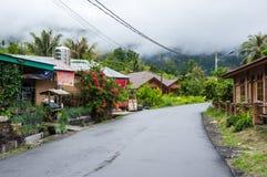 View of houses of village Tuktuk on island Samosir stock photos