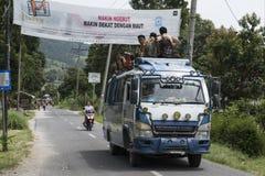 Sumatra local bus. Indonesia Stock Photo