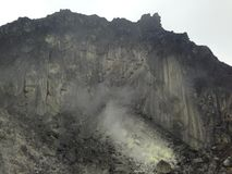 Sumatra sulfur volcano Sibayak 5 Royalty Free Stock Photography