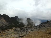 Sumatra sulfur volcano Sibayak 4 Stock Photography