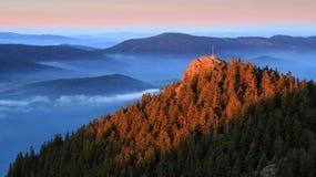 顶面奥斯特拉亚火山在国家公园Sumava -捷克 库存照片