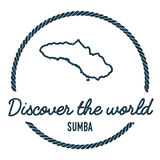 Sumba Map Outline. Vintage Discover the World. Stock Photos