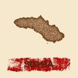Sumba martwił mapę royalty ilustracja