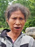 Sumbanese妇女 库存图片