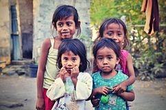 Sumbanese Poor Children From The Village, Sumba, Indonesia Royalty Free Stock Photography