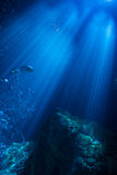 Sumbeams sous-marin photo stock