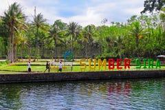 Sumber Sira - курорт ключевой воды с естественным бассейном стоковые фото