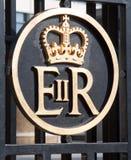Symbol of Queen Elizabeth Stock Photo