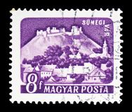 Sumeg, Castles (1960-64) serie, circa 1960. MOSCOW, RUSSIA - FEBRUARY 10, 2019: A stamp printed in Hungary shows Sumeg, Castles (1960-64) serie, circa 1960 stock photos