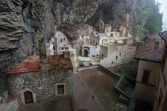 Sumela修道院庭院 库存照片
