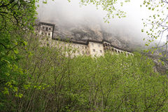 Sumela monastery clings to the mountainside near Trabzon, Turkey Royalty Free Stock Images
