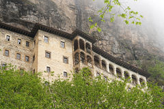 Sumela monastery clings to the mountainside near Trabzon, Turkey Stock Photo