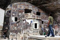 Sumela Monastery nära Trabzon på den Black Sea kusten av Turkiet fotografering för bildbyråer