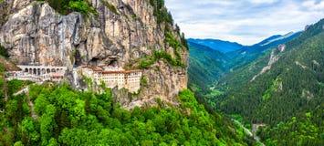 Sumela Monastery na província de Trabzon de Turquia fotografia de stock