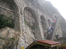 Sumela Monastery trabzon kalkon Arkivfoto