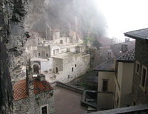 Sumela Monastery trabzon kalkon Arkivfoton