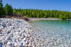 Sumer в национальном парке Онтарио Канаде полуострова Брюс Стоковые Изображения RF