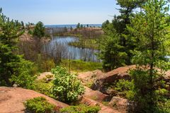 Sumer dans le Canada provincial d'Ontario de parc de Killarney Images libres de droits