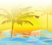 Sumer halftone palm background. Vector illustration vector illustration