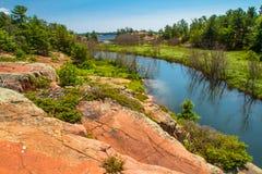 Sumer i provinsiella Killarney parkerar Ontario Kanada Arkivbild