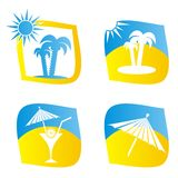 Sumer icons Stock Photography