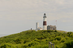 Sumer at the Montauk Lighthouse Royalty Free Stock Photography