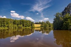 Sumer pond Stock Photography