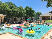Sumer resident pool party event at apartment complex near Dallas, Texas