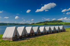 Sumer`s tent camp Stock Images