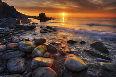 Sumer Sunset. Beautiful sunset at the south west coast of Sweden Stock Image