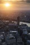 Sumer sunset over River Thames in London Stock Images