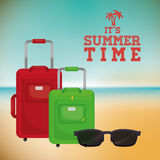 Sumer time design Royalty Free Stock Image