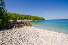 Sumer w Bruce półwysepa parku narodowym Ontario Kanada Obrazy Stock