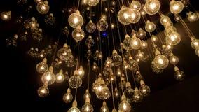 Sumergido en un universo por completo de bombillas foto de archivo libre de regalías