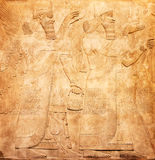 Sumerian artifact. Ancient sumerian stone carving with cuneiform scripting Royalty Free Stock Photography