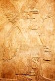 Sumerian artifact. Ancient sumerian stone carving with cuneiform scripting Stock Photos